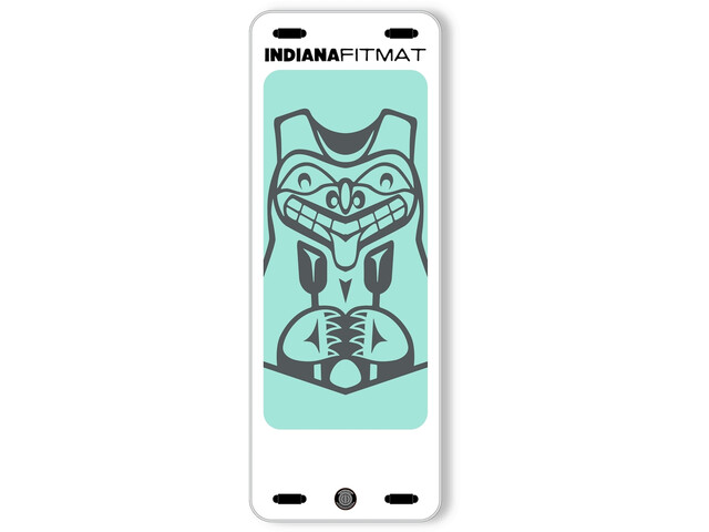 Indiana SUP Fit Inflatable Mat with Bag, blanco/verde